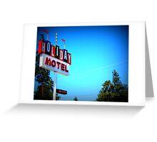 Retro Motel...In Bend, Oregon Greeting Card
