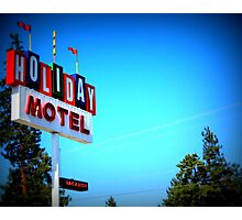 Retro Motel...In Bend, Oregon Photographic Print