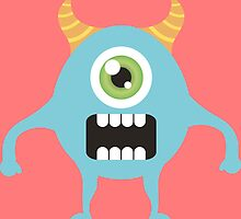 Cute one eyed monster by DjenDesign