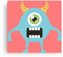 Cute one eyed monster Canvas Print