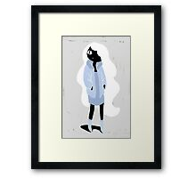 100 Days. Lady with white hair. Framed Print