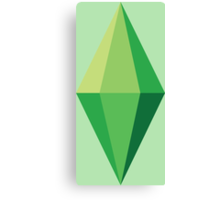 The Sims Plumbob Canvas Print