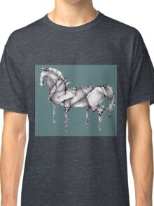 Origami Horse Teal Classic T-Shirt
