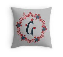 Scandinavian Monogram G Throw Pillow