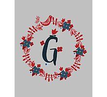 Scandinavian Monogram G Photographic Print