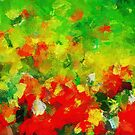 Abstract Floral Painting by Deniz Akerman