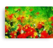 Abstract Floral Painting Canvas Print