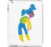 100 Days. Lady with green backpack. iPad Case/Skin