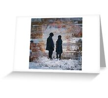 Dr Who and Clara - Timelords Greeting Card
