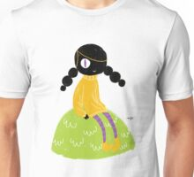 100 Days. Lady sitting on a hillock. Unisex T-Shirt
