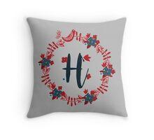 Scandinavian Monogram H Throw Pillow