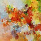 Colorful Abstract Landscape Painting by Deniz Akerman