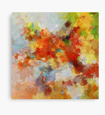 Colorful Abstract Landscape Painting Canvas Print