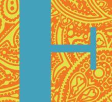 Paisley Print Letter 'E' Sticker