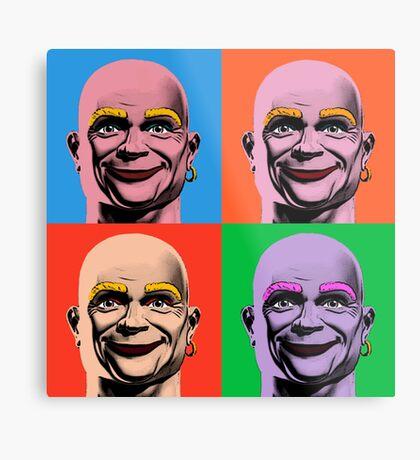 Mr Clean Pop Art in 4 colors Metal Print