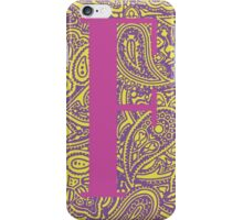 Paisley Print Letter 'F' iPhone Case/Skin
