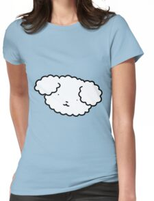 Fluffy Dog Face Womens Fitted T-Shirt