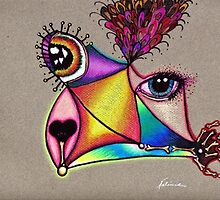 """Picasso Dog"" Creature by Nalinne Jones"