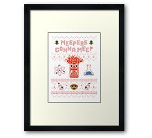 Meepers Gonna Meep - Christmas Sweater Jumper T-Shirt Framed Print