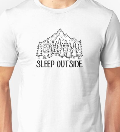 Sleep Outside Mountain Campsite Unisex T-Shirt