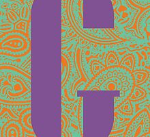 Paisley Print Letter 'G' by haypaige