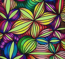 Colorful op art by Nalinne Jones