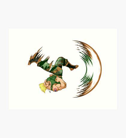 Guile Flash Kick Art Print