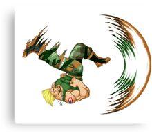 Guile Flash Kick Canvas Print