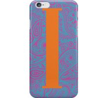 Paisley Print Letter 'I' iPhone Case/Skin