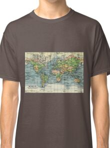 Old commercial map of the World 1865 - 1907 Classic T-Shirt