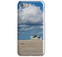 Clouds Over Beach Houses iPhone Case/Skin