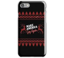 Merry Christmas Gay America iPhone Case/Skin