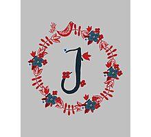 Scandinavian Monogram J Photographic Print