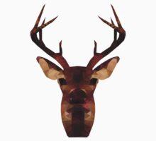 Low Poly Deer Kids Tee