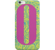 Paisley Print Letter 'O' iPhone Case/Skin