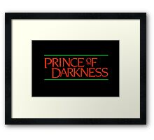 Prince of darkness! Framed Print