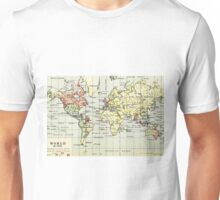 Old commercial map of the world 1790 Unisex T-Shirt