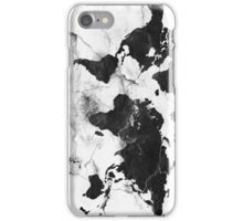 world map marble iPhone Case/Skin