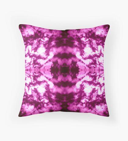 Violet Vibration Throw Pillow