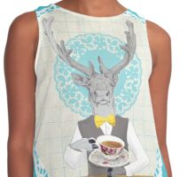 Caribou is having a brew and he's waiting for you... Contrast Tank