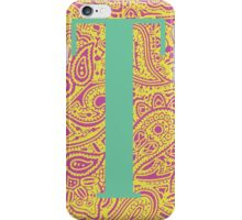 Paisley Print Letter 'T' iPhone Case/Skin