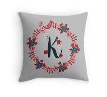 Scandinavian Monogram K Throw Pillow
