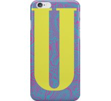 Paisley Print Letter 'U' iPhone Case/Skin