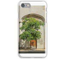 Tree on Wood Lane iPhone Case/Skin