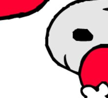 Snoopy holding a heart, with floating hearts Sticker