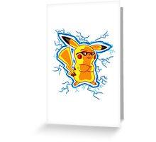 Cool Pikachu Greeting Card