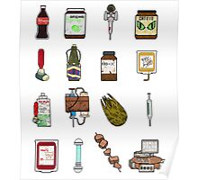 """Pixel """"Consumables""""  Poster"""