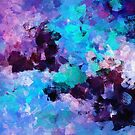 Purple Abstract Art by Deniz Akerman