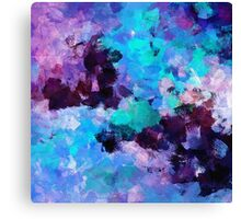 Violet Abstract Art Canvas Print