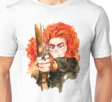 Brave! Disney's Merida Transparent Background Unisex T-Shirt